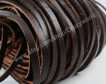 Wholesale Dark Brown Faux Leather Chains Suede Cord Findings Necklace Chain For Jewelry Making Supplies 16 Feet 5mm Width PJ036
