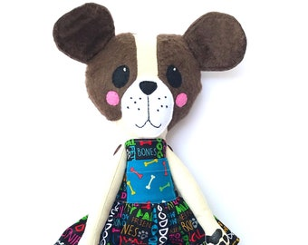 Dog Doll • Handmade Doll • Nursery Decor • Rag Doll • Dog Lover Gift • Keepsake Gift
