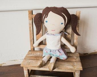 Custom Doll, Ali Brown Doll, Personalized Doll, Rag Doll, Designer Doll, Sleepy Fox Print Dress, Gift for Music Lover, Ali Brown Fan
