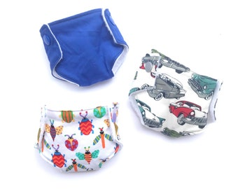 Doll Diaper, Doll Accessories, Baby Doll Diapers, Pretend Play for Little Mommy or Daddy, Boy Friendly Prints, New Sibling Gift