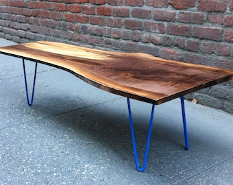 SOLD - Black Walnut Live Edge Coffee Table
