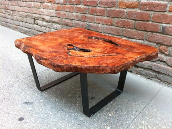 SOLD Amazing Redwood Burl Live Edge Coffee Table | Etsy