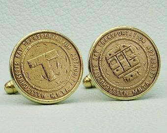 Subway Token Cufflinks  Replica  NYC Subway  Metro Travel  Travel Jewelry  Travel Gifts