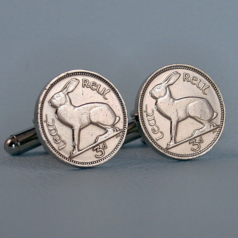 Irish Threepence Coin Goldtone Toggle Bracelet