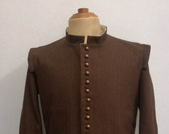 17th doublet made of brown wool fabric