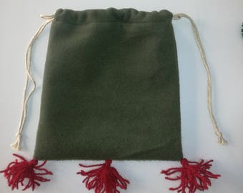 Purse for medieval re-enactment made in wool fabric