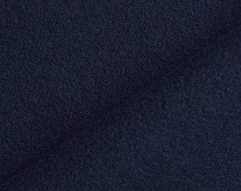 Fabric By The Yard Night Navy Blue Wool Blend Twill Jacketing