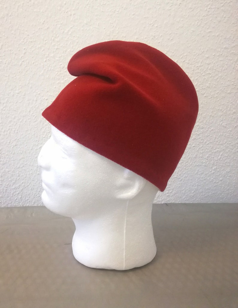 Phrygian cap made of red wool fabric.