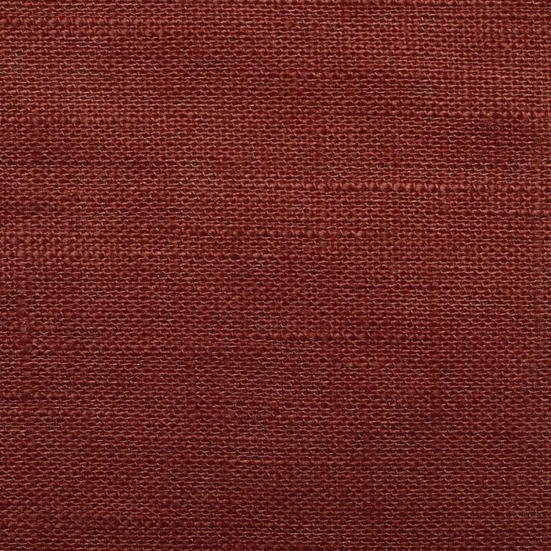 Rost brown linen fabric 100/% linen