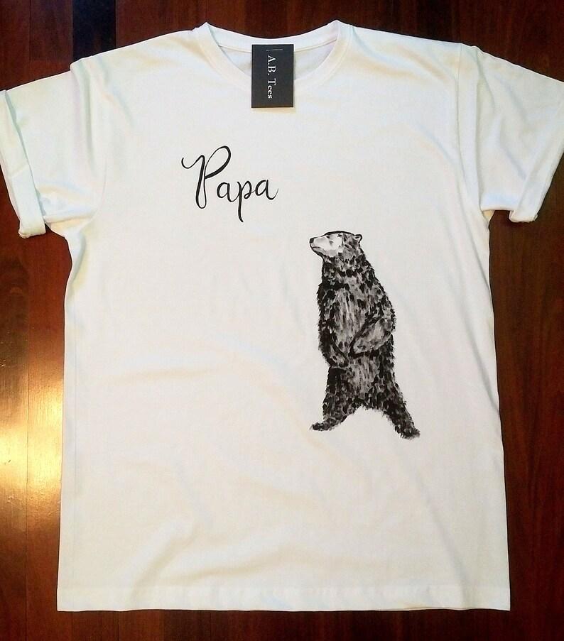 T Shirt Overhemd.Papa Bear Shirt Overhemd Dragen Cadeau Voor Papa Gelakt Etsy