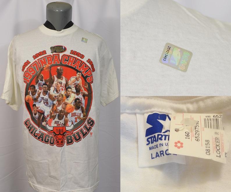 c6d66ab46976 Vintage 1990's Chicago Bulls T-Shirt 1997 Championship | Etsy
