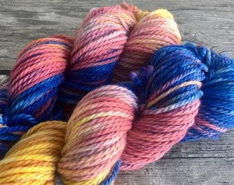 Go The Distance - Hand Dyed Superwash Merino Yarn - Bulky Weight Yarn - Hand Dyed Yarn - Chunky Weight Yarn - Hand Dyed Chunky Yarn