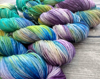 Can You Paint With All The Colors Of the Wind? - Superwash Merino Nylon Hand Dyed Yarn - Fingering/Sock Weight Yarn - Indie Dyed - Hand Dyed