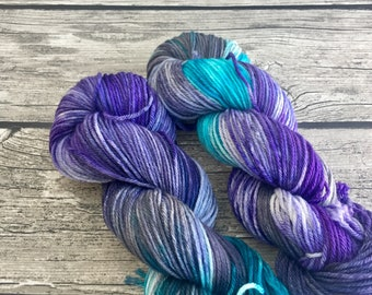 You Can't Take The Sky From Me - Superwash Merino Hand Dyed Yarn - Worsted Weight Yarn - Hand Dyed Yarn - Hand Dyed Worsted Yarn - Aran Yarn