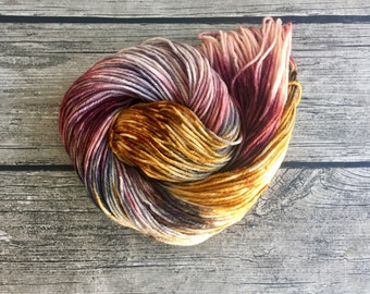 Master Has Given Dobby A Sock - Superwash Merino Hand Dyed Yarn - Worsted Weight Yarn - Hand Dyed Yarn - Hand Dyed Worsted Yarn - Aran Yarn