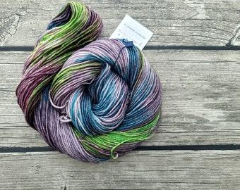 Speak Friend And Enter - Superwash BFL Silk Hand Dyed Yarn - DK Weight Yarn- Indie Dyed -Hand Dyed- Luxury Yarn