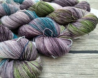 Speak Friend And Enter - Superwash Merino Nylon Hand Dyed Yarn - Fingering/Sock Weight Yarn - Indie Dyed Yarn - Hand Dyed Yarn
