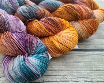 To Live Would Be An Awfully Big Adventure - Superwash Merino Nylon Hand Dyed Yarn - Fingering/Sock Weight Yarn - Indie Dyed Yarn - Hand Dyed