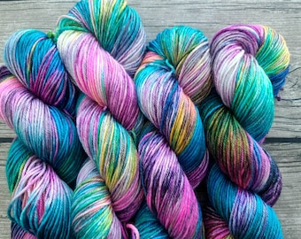 We're Not Hosting An Intergalactic Kegger Down Here - Superwash BFL Silk Hand Dyed Yarn - DK Weight - Indie Dyed - Hand Dyed - Luxury Yarn