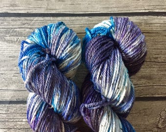 You Can't Take The Sky From Me - Hand Dyed Superwash Merino Tweed Yarn - Worsted / Aran Weight Yarn - Hand Dyed Yarn