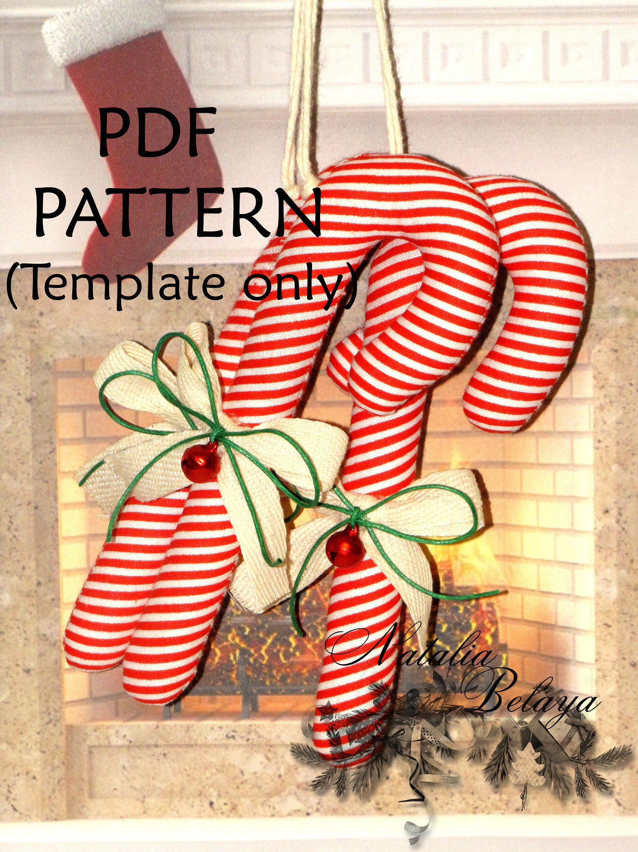 PDF-Muster. Christmas Ornament Schnittmuster. Zuckerstange