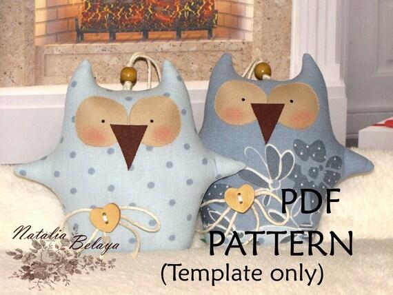 pdf pattern owls pattern owl pattern owls template etsy