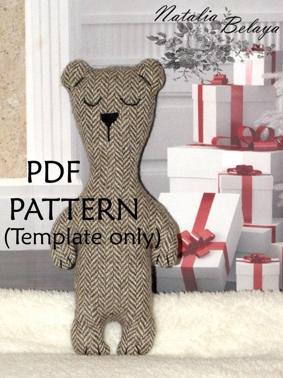 PDF-Muster. Bär Spielzeug-Schnittmuster. Kuscheltier Muster. | Etsy