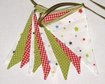 SALE  Christmas garland. Fabric garland. Flag garland. Bunting Banner. Home decor. Wall decoration. Christmas decoration.