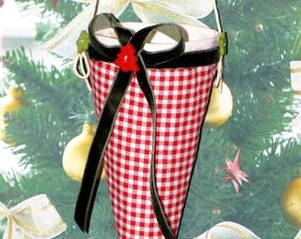 Christmas cornet for sweets. Gift bag. Cornet bag.