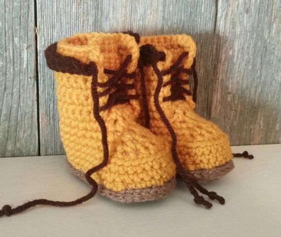 Botas Timberland botas Timberland de ganchillo bebé bebé botas de trabajo botas de bebé de ganchillo