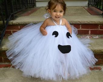 Baby, Toddler, Child, Ghost Tutu Halloween Costume