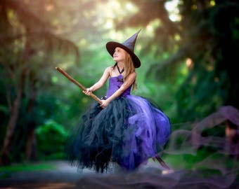 Girls Full Length Witch Costume