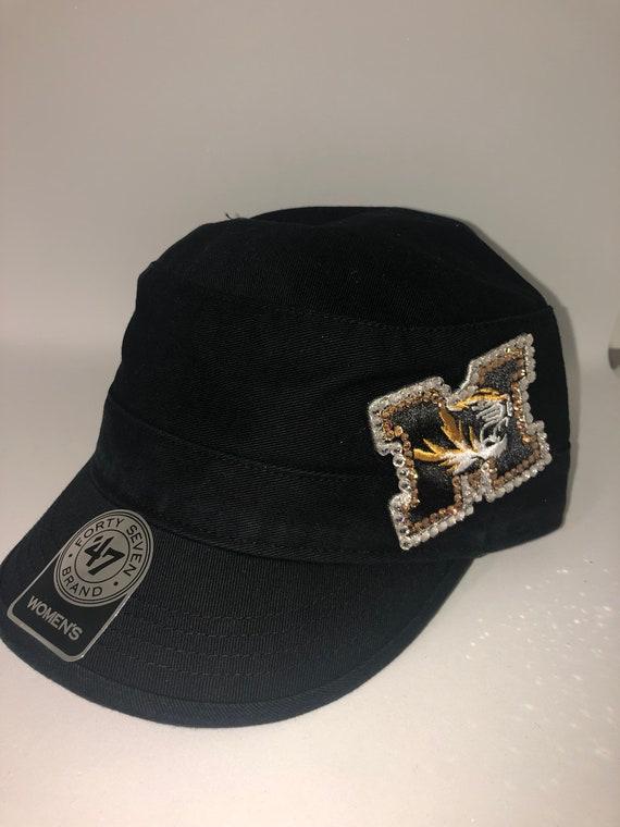 Swarovski crystal bling Missouri Tigers adjustable hat  891acec2ee39