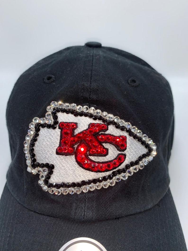 0740e270 Swarovski crystal bling Kansas City Chiefs adjustable hat