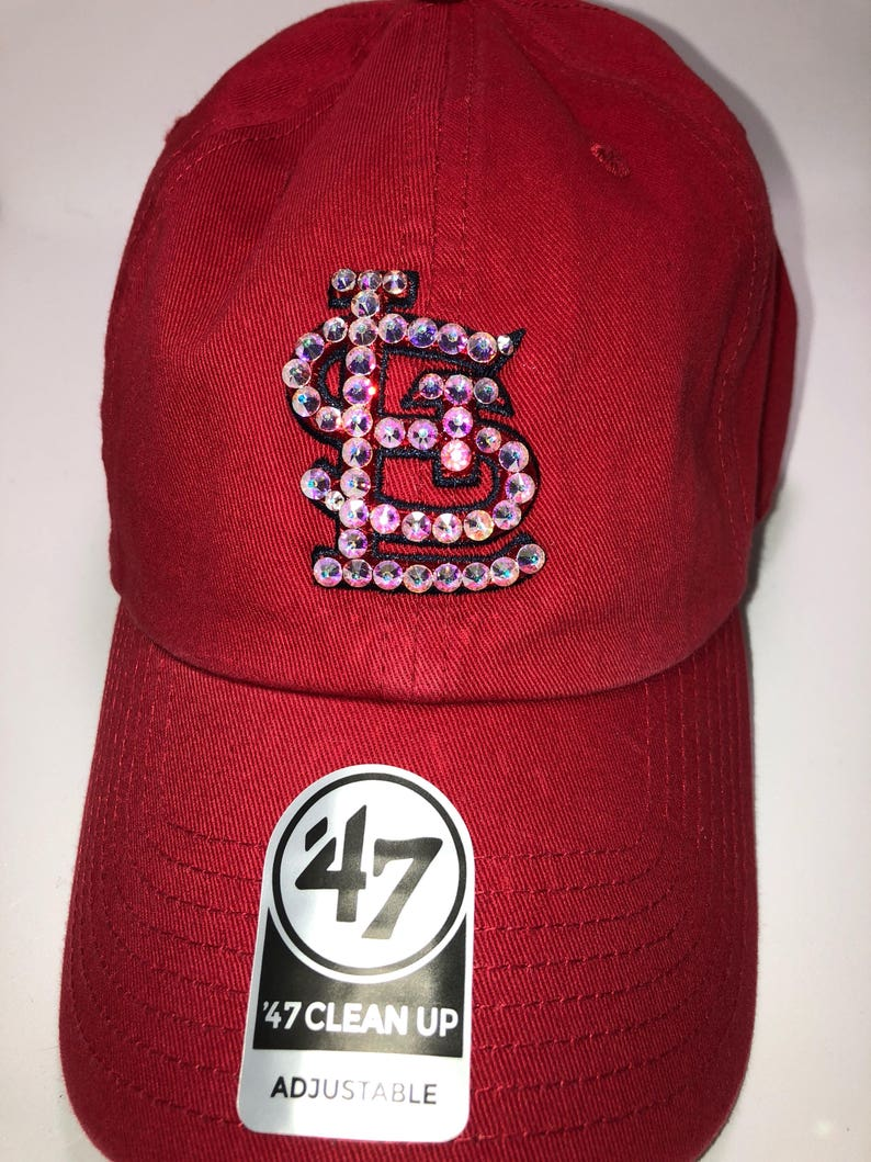 1e7897fbfa5cc Swarovski crystal bling St. Louis Cardinals adjustable hat