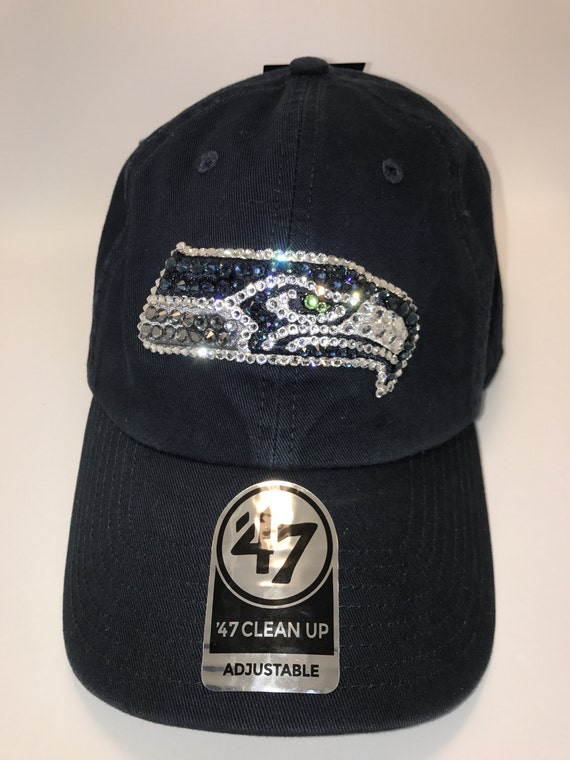 aa02b6525 Swarovski crystal bling Seattle Seahawks adjustable hat