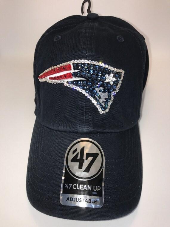 usa cheap sale huge selection of premium selection Swarovski crystal bling New England Patriots adjustable hat   Etsy