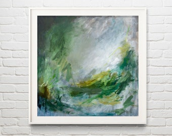 Abstract Art Print, Contemporary Painting, Abstract Wall Art by Katie Jobling