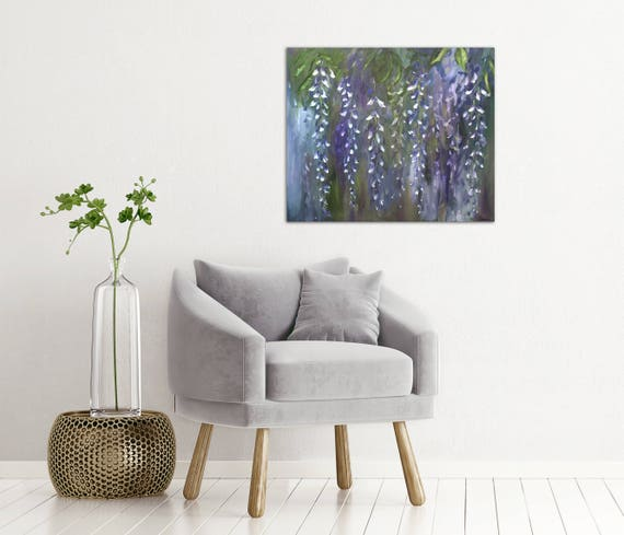 Wisteria Oil Painting Abstract Art Original //