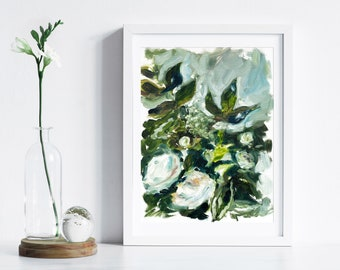 Botanical Print, Plant Lover Print, Floral Painting by Katie Jobling