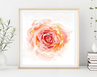 Rose Art Print, Flower Painting, Gift For Her, Floral Print