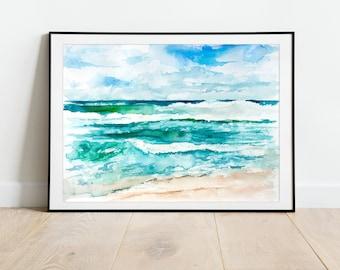 Ocean Print, Sea Wall Art, Seascape Art Print in the UK