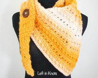 Winter Rays Scarf Crochet Triangle Scarf PATTERN PDF DOWNLOAD