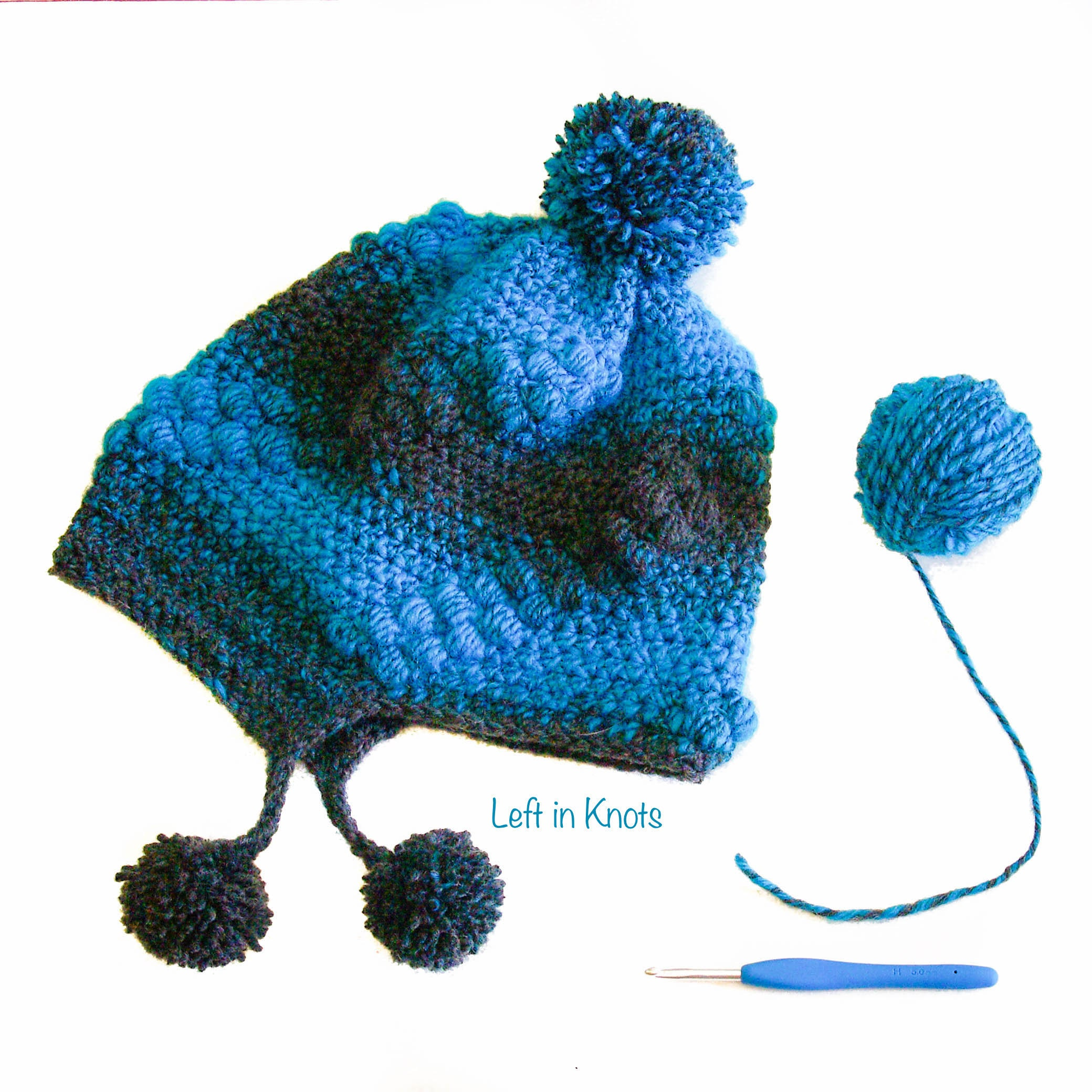 Spiral Puffs Slouchy Hat Crochet Pattern Pdf Download Etsy