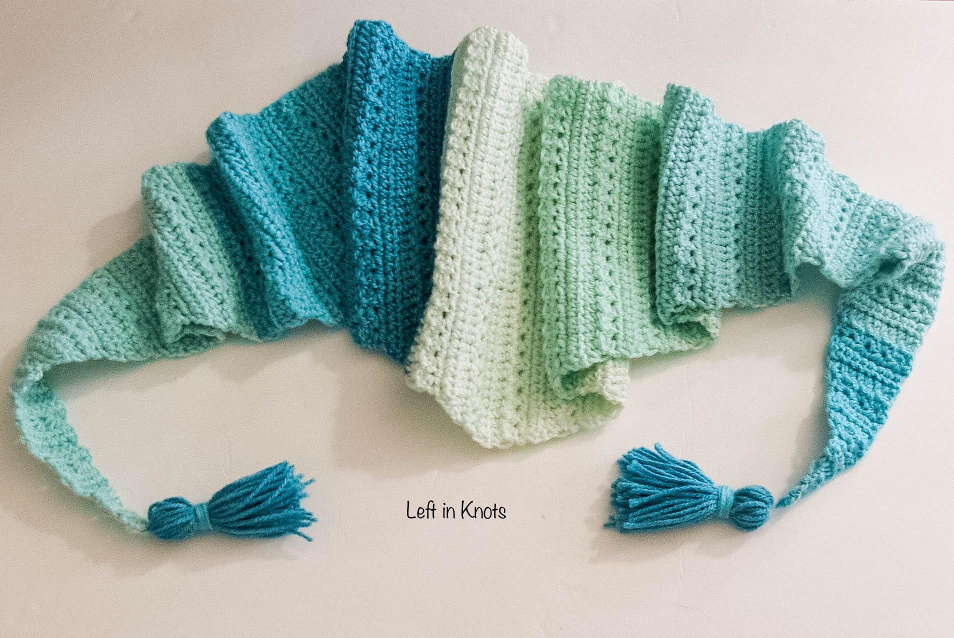 Snow Drops Mod Scarf Crochet Pattern Download Etsy