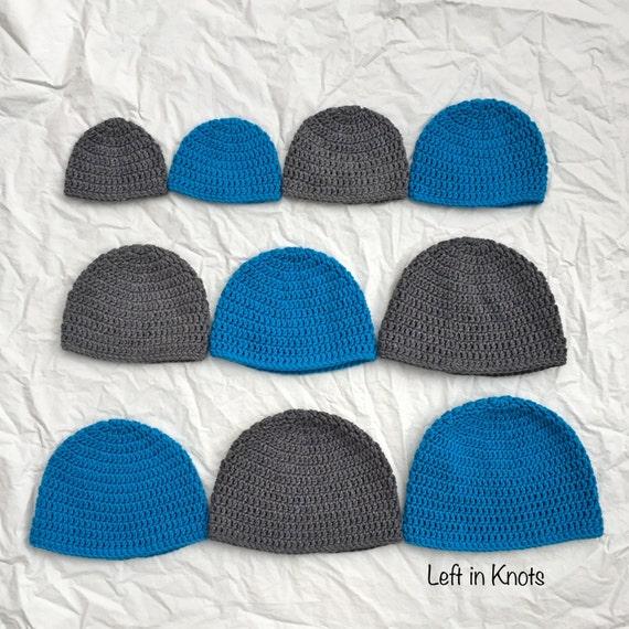 Double Crochet Hat In 10 Sizes Pattern Download Pdf Etsy