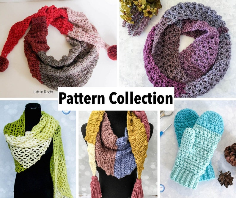 Caron Cakes Crochet Pattern Collection: Five Modern Crochet Patterns PDF  Download using Caron Cakes yarn