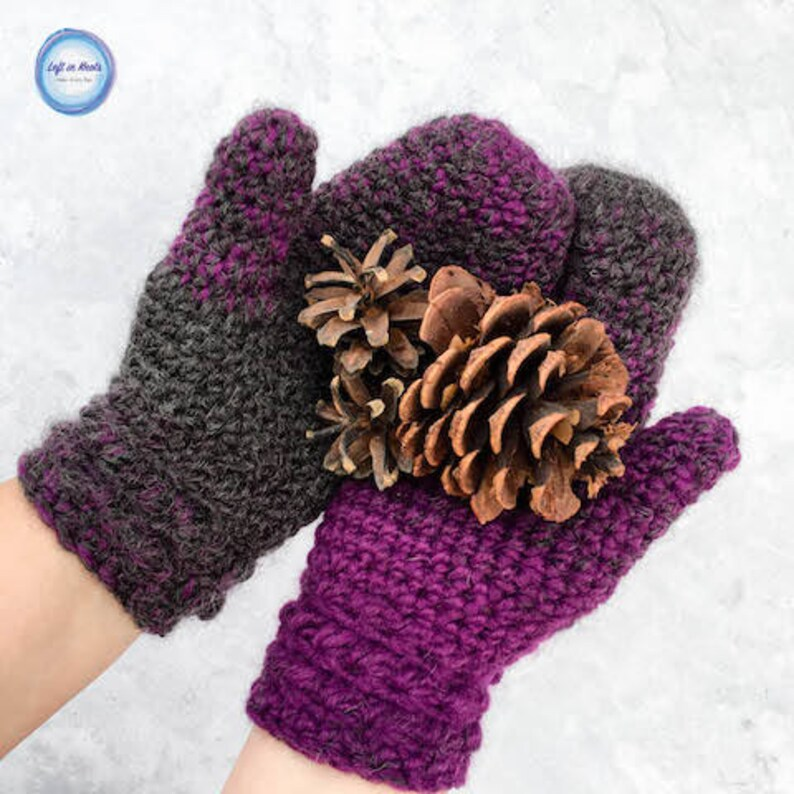 photo about Printable Mitten Pattern called Star Gazers Mitten Crochet Routine PDF Printable