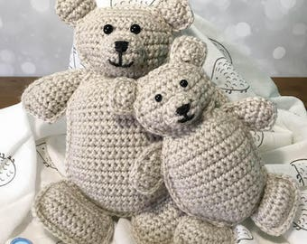 Baby and Me Crochet Bears PATTERN DOWNLOAD ragdoll amigurumi gift for baby