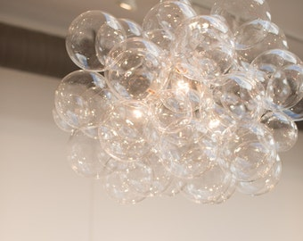 The 45 Bubble Chandelier • Bubble Light • Dining Room Chandelier • LED Lighting • Ceiling Light • Custom Chandelier